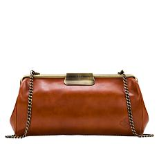 """As Is"" Patricia Nash Juilly Leather Triple Frame Clutch"