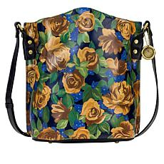"""""""As Is"""" Patricia Nash Lavello Leather Crossbody Bucket Bag"""