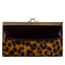 """As Is"" Patricia Nash Paola Leather Frame Wallet with RFID Protection"