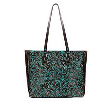 """As Is"" Patricia Nash Solero Leather Tote"