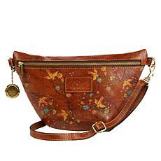 """As Is"" Patricia Nash Tinchi Leather Belt Bag/Crossbody Sling Bag"