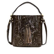 """As Is"" Patricia Nash Torresina Leather Bucket Bag"