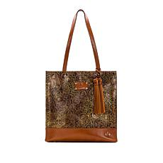 """""""As Is"""" Patricia Nash Toscano Coin-Tooled Leather Tote"""