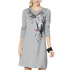 """As Is"" Rara Avis by Iris Apfel Embroidered Knit Dress"