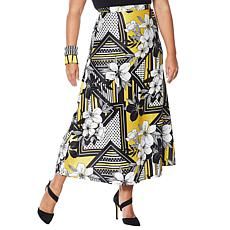 """As Is"" Rara Avis by Iris Apfel Floral Print Maxi Skirt"