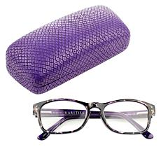 """""""As Is"""" Rarities Purple Tortoise Evil Eye Readers with Case and Cle..."""