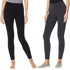 """As Is"" Rhonda Shear 2-pack Fleece-Lined Legging"