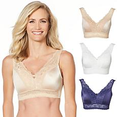 """""""As Is"""" Rhonda Shear 3-pack """"Betty"""" Pin Up Bra with Back Closure"""