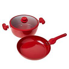 """As Is"" Safe-T-Grip 3-piece Ceramic Nonstick Cookware Set"