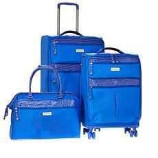 """As Is"" Samantha Brown 3-piece Ultra Lightweight Luggage Set"