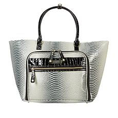 """As Is"" Samantha Brown Croco-Embossed Shopper Tote"