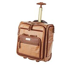 """""""As Is"""" Samantha Brown Embossed Rolling Carry-It-All Bag"""