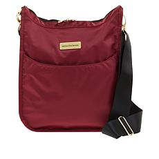 """""""As Is"""" Samantha Brown Nylon Crossbody Bag with RFID Protected Pocket"""