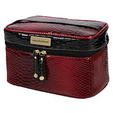 """""""As Is"""" Samantha Brown Ombré Croco Embossed Cosmetic Case"""