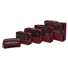 """As Is"" Samantha Brown Packing Cubes 5-piece Set"