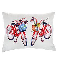 """""""As Is"""" Sewing Down South Dual Bikes Lumbar Pillow"""