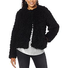 """As Is"" Skinnygirl Bridgehampton Faux Sherpa Jacket"
