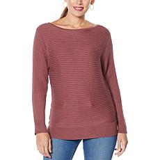 """""""As Is"""" Skinnygirl Casey Boatneck Rib Knit Sweater"""