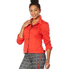 """""""As Is"""" Skinnygirl Classic Jean Jacket - Fashion"""