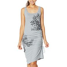 """As Is"" Skinnygirl Connie Side Ruched Midi Tank Dress"