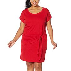"""As Is"" Skinnygirl Deborah Draped Side Tie T-Shirt Dress"