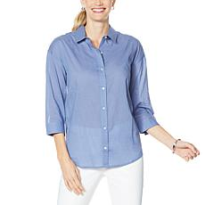 """As Is"" Skinnygirl Ride the Wave Button-Down Hi-Low Shirt"