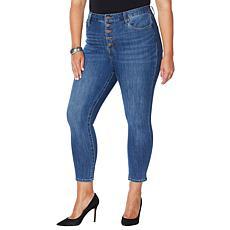 """As Is"" Skinnygirl Risk Taker High-Rise Skinny Crop Jean"