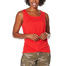 """As Is"" Skinnygirl Side Ruched Knit Tank"