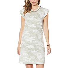 """""""As Is"""" Skinnygirl T-Shirt Dress with Chain Necklace"""