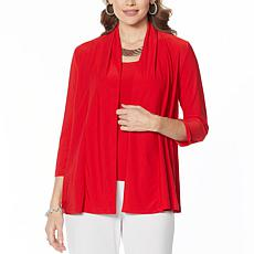 """""""As Is"""" Slinky® Brand 2-piece Shawl Collar Jacket and Tank Set"""