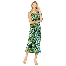 """As Is"" Slinky® Brand Sleeveless Printed Tank Maxi Dress"