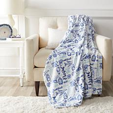 """""""As Is"""" Soft & Cozy Novelty Printed Plush Throw"""