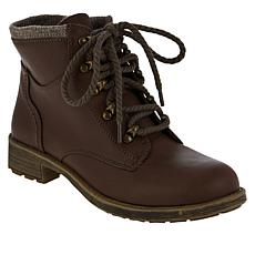 """As Is"" Sporto® Brandy Water-Resistant Lace-Up Hiker Bootie"