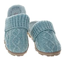 """As Is"" Sporto® Sally2 Knit Slipper with Faux Fur Trim"