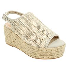 """As Is"" Steven by Steve Madden Courage Woven Platform Sandal"