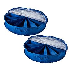 """""""As Is"""" StoreSmith 2-pack Round Under-the-Bed Organizers"""