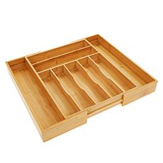 """""""As Is"""" StoreSmith Bamboo Expandable Kitchen Drawer Organizer"""