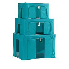 """""""As Is"""" StoreSmith Set of 3 Collapsible Storage Bins"""