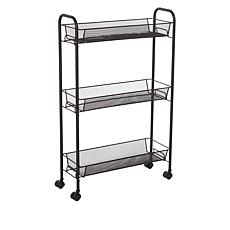 """As Is"" StoreSmith Slim Utility Storage Cart"