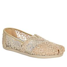 """As Is"" TOMS Floral Lace Classics Alpargata Slip-On"