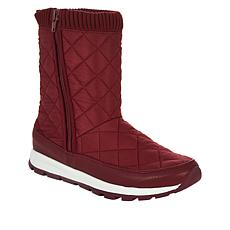 """""""As Is"""" Tony Little Cheeks® Fit Body Quilted Boot with Energy Pads"""