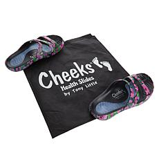 """""""As Is"""" Tony Little Cheeks Health Slide with Gel Footbed"""
