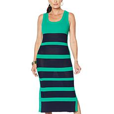 """As Is"" Vanessa Williams Striped Knit Sweater Dress"