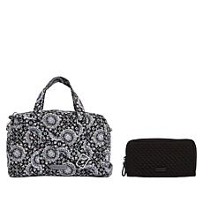 """""""As Is"""" Vera Bradley Iconic Quilted Handbag and Matching RFID Wallet"""
