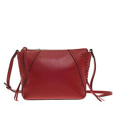 """As Is"" Vince Camuto Ilda Leather Laced Crossbody"
