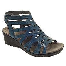 """As Is"" Vince Camuto Inaya Leather Jeweled Toe-Loop Sandal"