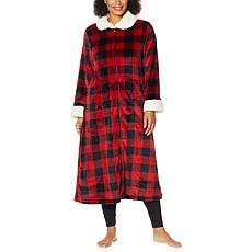 """As Is"" Warm & Cozy Zip-Front Robe"