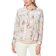 """""""As Is"""" WynneLayers Chiffon Jacket - Fashion"""