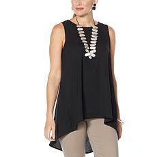 """As Is"" WynneLayers Crepe Georgette Sleeveless Tunic"