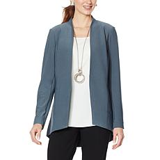 """""""As Is"""" WynneLayers Luxe Crepe Collarless Blazer"""